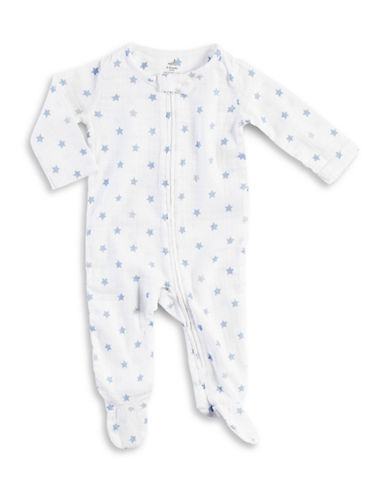 Aden By Aden And Anais Star Print Footie-BLUE-6-9 Months