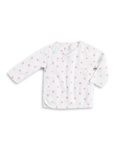 Aden By Aden And Anais Star Print Kimono Top-PINK-0-3 Months
