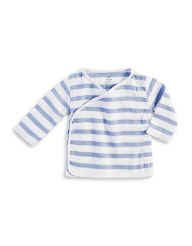 Aden By Aden And Anais Striped Kimono Top-BLUE-6-9 Months