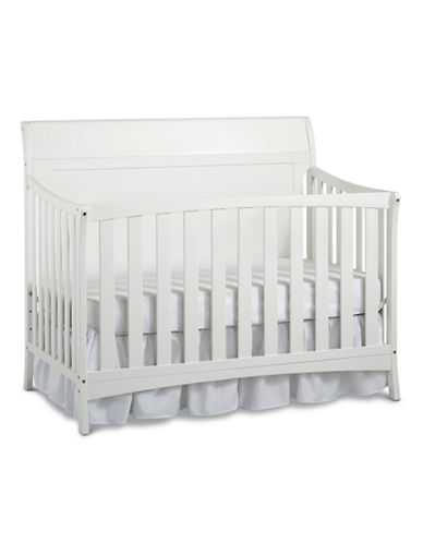 Fisher Price Georgetown Convertible Crib in Snow White-WHITE-One Size