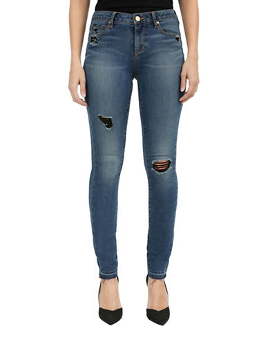 Articles Of Society Denim Ankle Skinny Jeans-BLUE-31