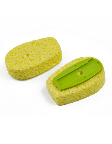 Full Circle Suds Up Two-Pack Sponge Refills-GREEN-One Size