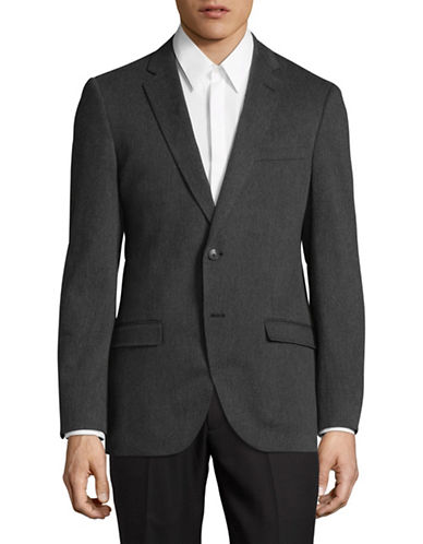 Black Brown 1826 Twill Sports Jacket-GREY-Small