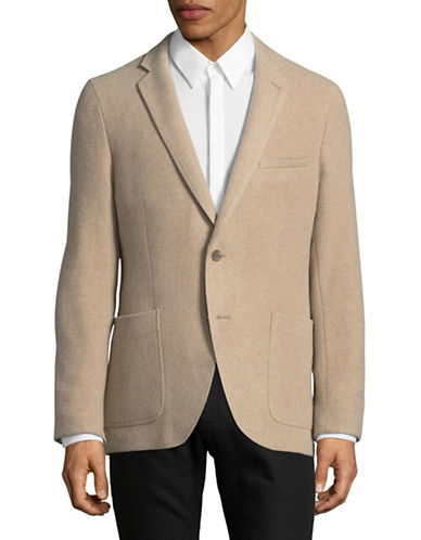 Black Brown 1826 Unstructured Brushed Wool Sports Jacket-NATURAL-Medium 89525076_NATURAL_Medium