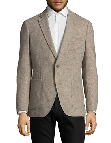 Black Brown 1826 Italian Herringbone Sportcoat-BEIGE-Medium