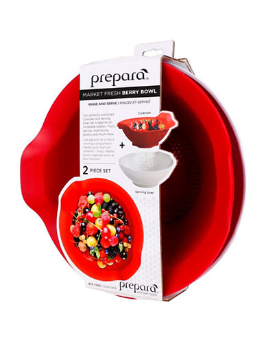 Prepara Market Fresh Colander Set-RED-One Size