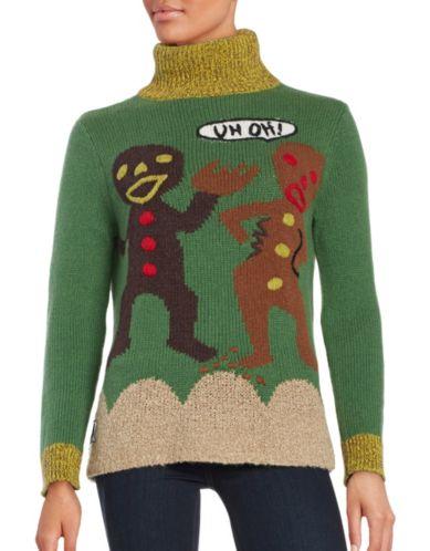 Gingerbread Turtleneck Ugliest Christmas Sweater
