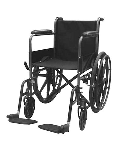 Ezee Life 18-Inch Economy Wheelchair-BLACK-One Size