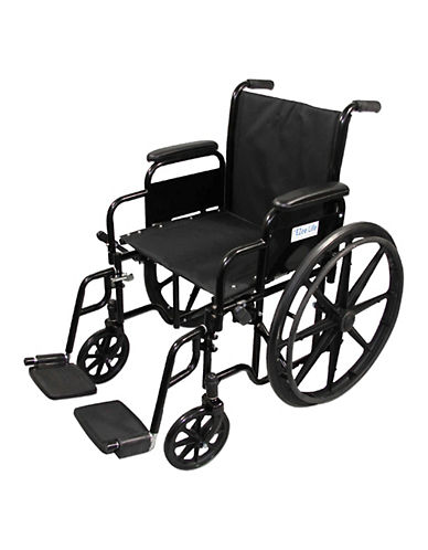 Ezee Life 18- Inch Removable Arm Wheelchair-BLACK-One Size