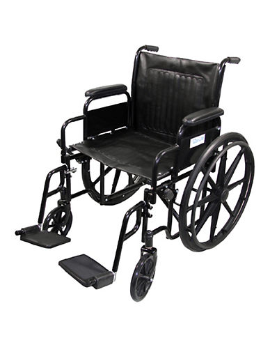 Ezee Life 20-Inch Wheelchair-BLACK-One Size
