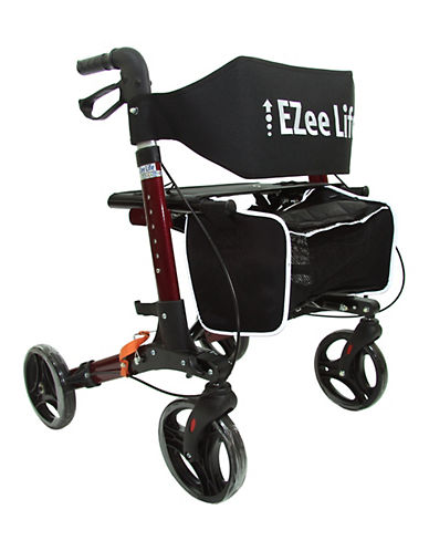 Ezee Life X Frame Rollator Walker-RED-One Size