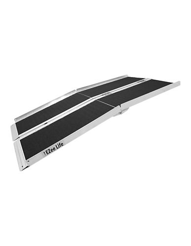Ezee Life Foldable 7-Feet Portable Ramp with Grip Tape-BLACK-One Size