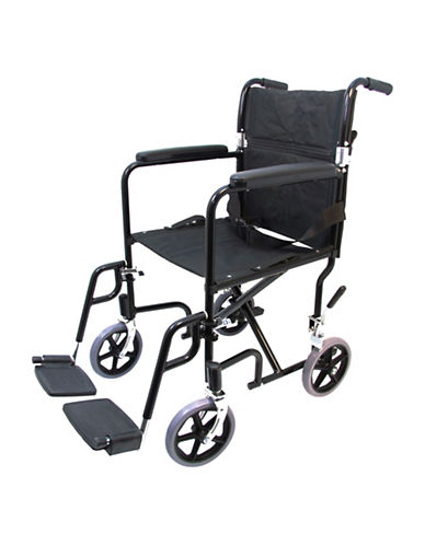Ezee Life 19-Inch Transport Chair-BLACK-One Size