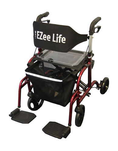Ezee Life Combo Rollator Walker-RED-One Size
