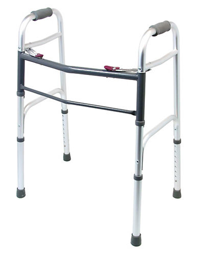 Ezee Life Folding Walker-GREY-One Size