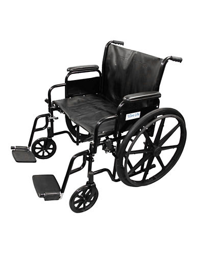 Ezee Life 24- Inch Economy Bariatric Wheelchair-BLACK-One Size