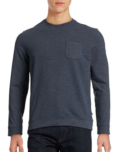 Black Brown 1826 Brushed French Terry Sweatshirt-WINTER NAVY-XX-Large 88403819_WINTER NAVY_XX-Large