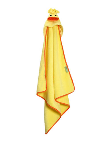 Zoocchini Puddles The Duck Baby Towel-MULTI-One Size