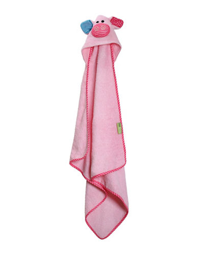Zoocchini Pinky The Piglet Baby Towel-MULTI-One Size