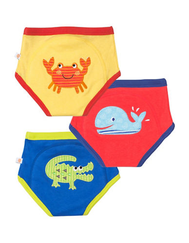 Zoocchini Three-Pack Boys Ocean Friends Training Pants-MULTI-3 Toddler