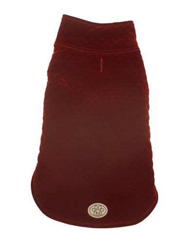 Royal Animals Velvet Paris Dog Coat-RED-Small