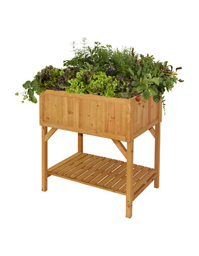 Vegtrug Cedar Wood Raised Planter-NATURAL-One Size