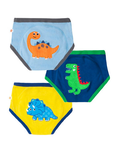 Zoocchini Three-Pack Boys Jurassic Pal Training Pants-MULTI-3 Toddler