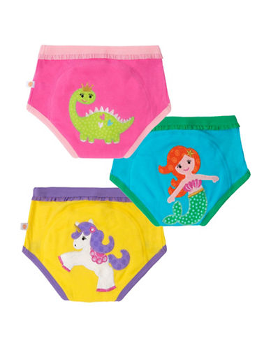 Zoocchini Three-Pack Girls Fairy Tales Training Pants-MULTI-2 Toddler