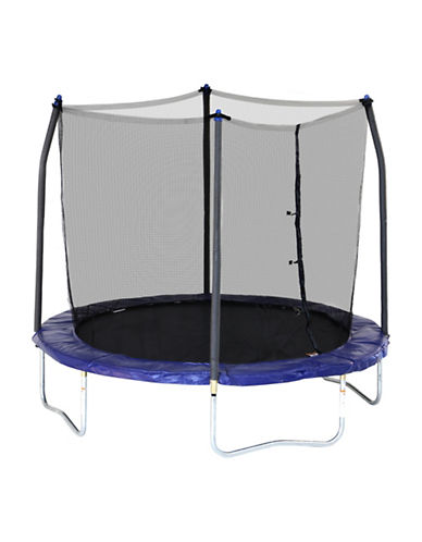 Skywalker Trampolines 8-Foot Round Trampoline with Enclosure-BLUE-One Size