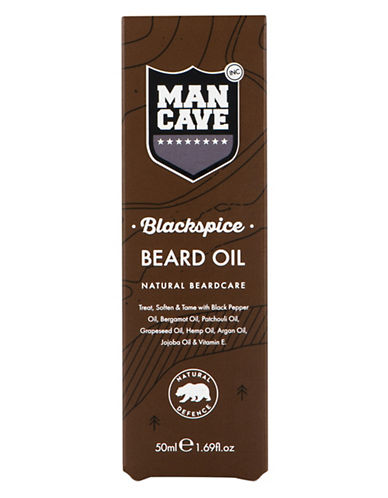 Mancave Black Spice Beard Oil-NO COLOUR-50 ml