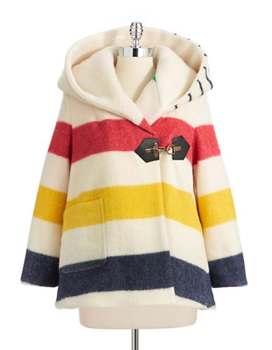 HudsonS Bay Company X Smythe Blanket Swing Coat-MULTISTRIPE-4