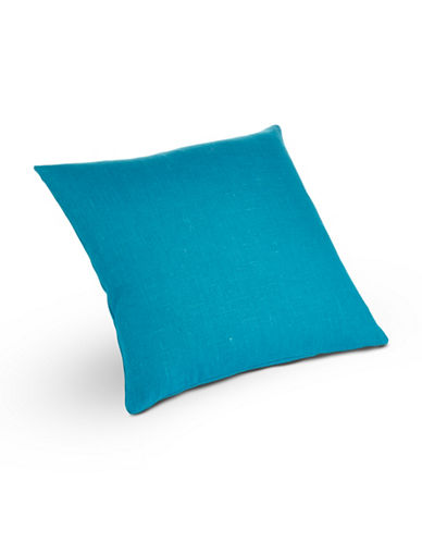 Distinctly Home Square Linen Cushion-TEAL-One Size