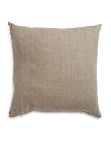 Distinctly Home Square Linen Cushion-DARK NATURAL-One Size
