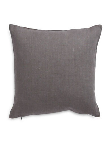 Distinctly Home Square Linen Cushion-GREY-One Size
