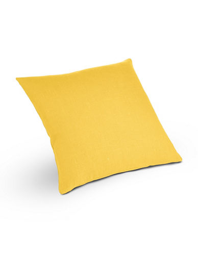 Distinctly Home Square Linen Cushion-CITRON-One Size