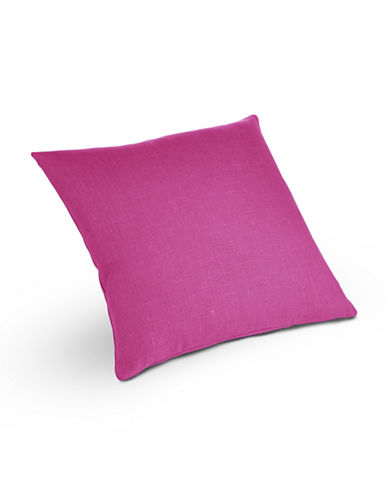 Distinctly Home Square Linen Cushion-PINK-One Size