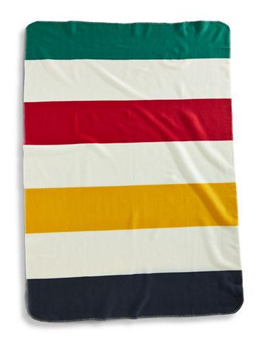 HudsonS Bay Company Polar Fleece Throw-MULTI STRIPE-One Size