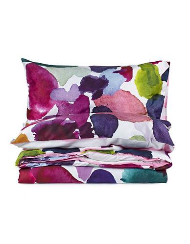 Bluebellgray Abstract Watercolour Floral Duvet Set-MULTI-King