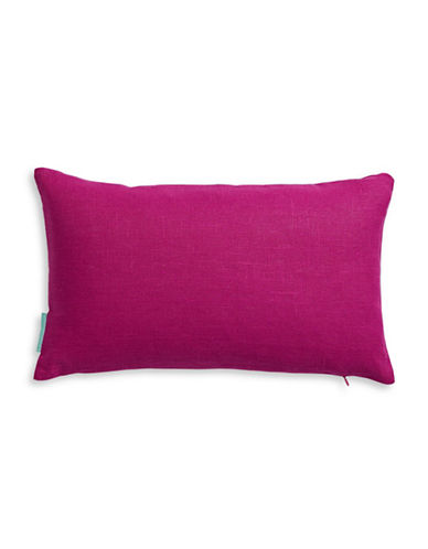 Bluebellgray Rectangular Watercolour Linen Cushion-RASPBERRY-One Size