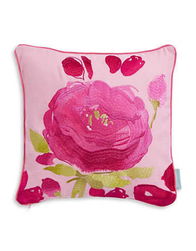 Bluebellgray Joanne Floral Embroidered Cushion-MULTI-One Size