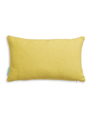 Bluebellgray Rectangular Watercolour Linen Cushion-YELLOW-One Size