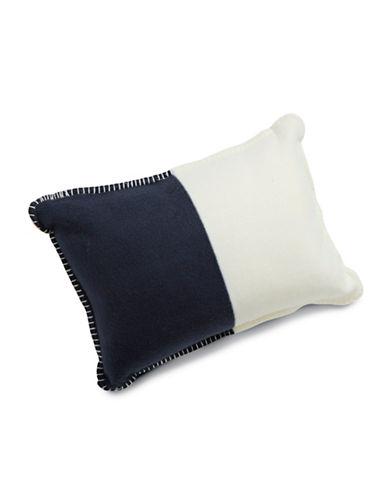HudsonS Bay Company Cozy - Chunky Stripe Throw Pillow-BLUE-One Size
