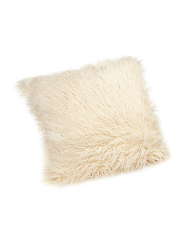 Distinctly Home Mongolian Faux Fur Cushion-IVORY-One Size