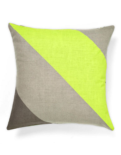 Aura Jumbo Stripe Decorative Cushion-LIME-One Size