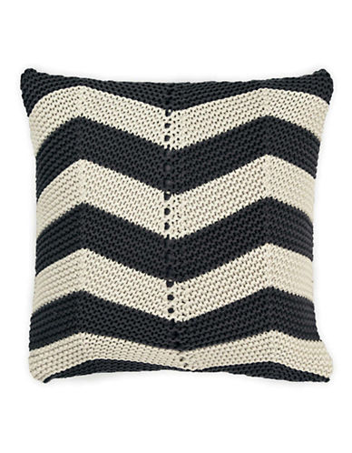 Aura Chevron Decorative Cushion-SMOKE GREY-One Size