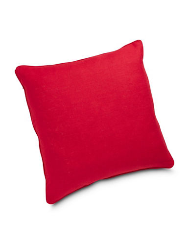 Aura Linen Euro Sham-RED-European