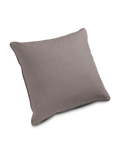 Aura Linen Euro Sham-LIGHT GREY-European