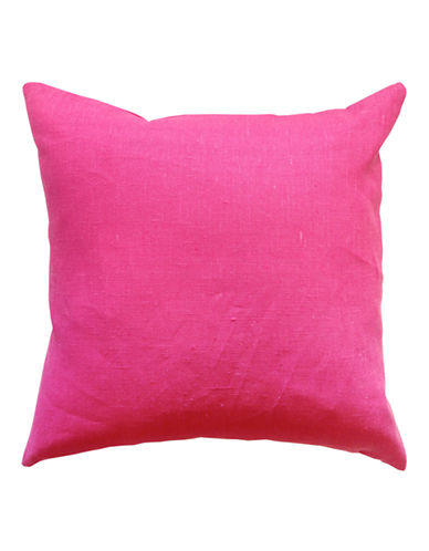 Distinctly Home Square Linen Cushion-FUSCHIA-One Size