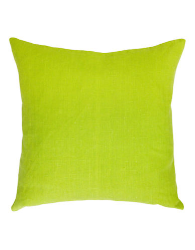 Distinctly Home Square Linen Cushion-LIME-One Size