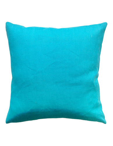 Distinctly Home Square Linen Cushion-TURQUOISE-One Size